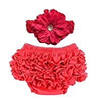 Orien Baby Girl Ruffle Blommers Nappy Diaper Cover Knicker Red Waist 27.5'