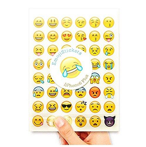 Familienkalender Calendario della famiglia Emoji Sticker Whats App diario Sticker 20 fogli (ogni 20 Gleich )