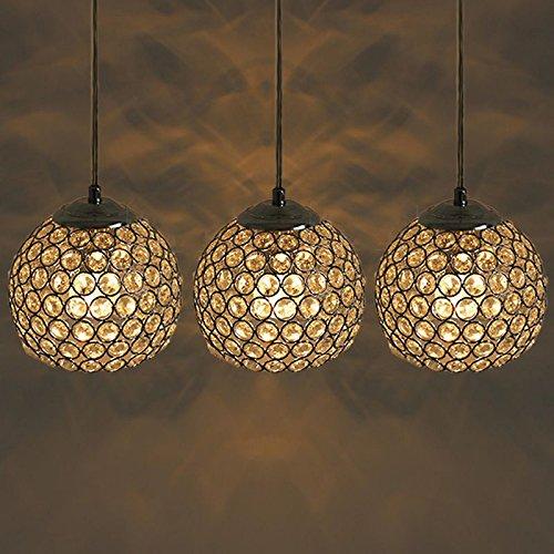 Fashion Kristall Kugel Esszimmer Anhänger Lights Creative Bar Cafe Hängelampe Korridor Balkon Anhänger Lampen Modern 3 lights-sideways