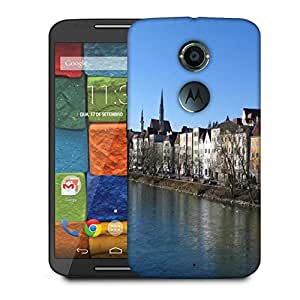 Snoogg Big House And River Designer Protective Phone Back Case Cover For Moto X 2nd Generation