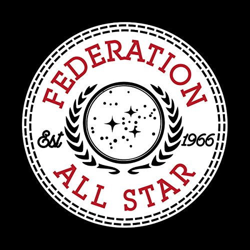 Star Trek Federation All Star Converse Logo Women's T-Shirt Black
