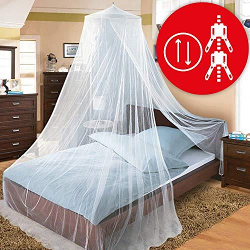 Glorytec Moskitonetz XXL - mit 2-Wege-Reißverschluss für Doppelbett und Einzel-Bett - Premium Mückennetz - Fliegennetz Schützt vor Insekten und Mücken