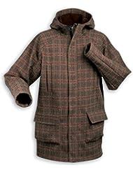 "'Tatonka Style ""Estevan–Parka para hombre Forro Polar abrigo, Brown Plaid, otoño/invierno, hombre, color  - brown plaid, tamaño L"