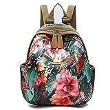 TENGGO Donne Stile Nazionale Fiore Modello Di Nylon Borse Spalla Zaino Travel Bag-#04