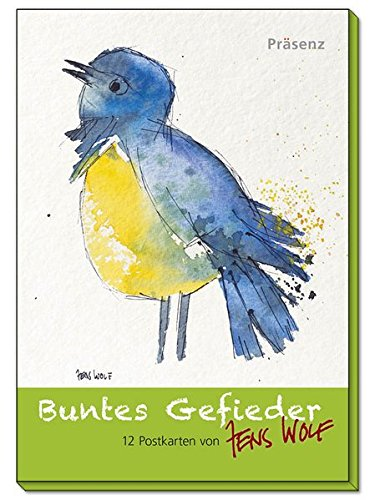Buntes Gefieder: 12 Postkarten von Jens Wolf