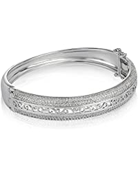 Shaze Silver Starry Shimmer Bangle for Women