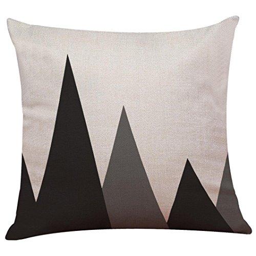Federa bohemian boho,kword vintage nero & bianco cotone lino gettare cuscino copertina cuscino caso home decor fatto a mano cuscino buttare (g)
