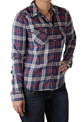 LTB Jeans - Camicia - Attillata  -  donna scozzese rosa S/42