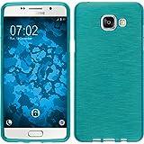 PhoneNatic Samsung Galaxy A5(2016) A510Bleu Coque de protection en silicone brossé avec 2x Film de protection d'écran