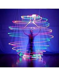 Xinji 1paire LED POI jetable Balles pour professionnel Belly Dance à niveau Props