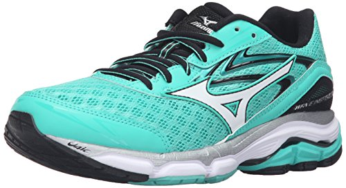 Mizuno Wave Inspire 12 Synthétique Chaussure de Course Electric Green-White-Black