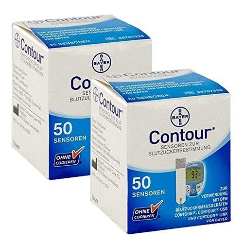 Bayer Contour Teststreifen 2x50er Box 100St. vorm. Bayer Ascensia MHD 09.2020