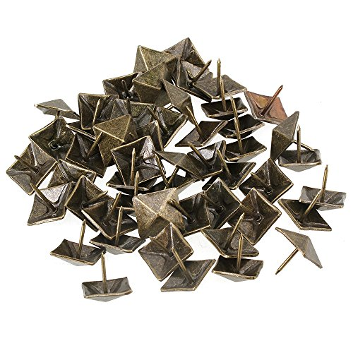 BQLZR 19 x 21mm Bronze Antik Viereck Kegel Nagel Pyramide Ziernägel Möbel Polsternägel 50 Stück