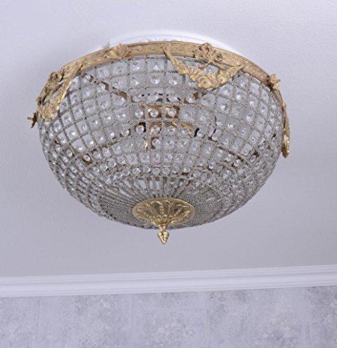 Deckenlüster Kristalle Deckenlampe Deckenleuchte Barock Lampe XL Palazzo Exclusiv - Barock Deckenleuchte