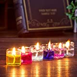 #5: PeepalComm 18pcs/pack Gel Candles for Home Decoration Party Birthday Wedding Diwali Christmas (2.3 x 2.3 x 2.6cm)