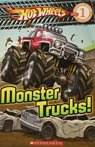 Portada del libro Hot Wheels: Monster Trucks! (Scholastic Reader Level 1) by Ace Landers (2009-11-08)