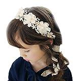 Fletion Kinder Haarschmuck Blumen Spitzeband Mädchen Haarband Neuer Kopfschmuck Blumekranz Blumenstirnband