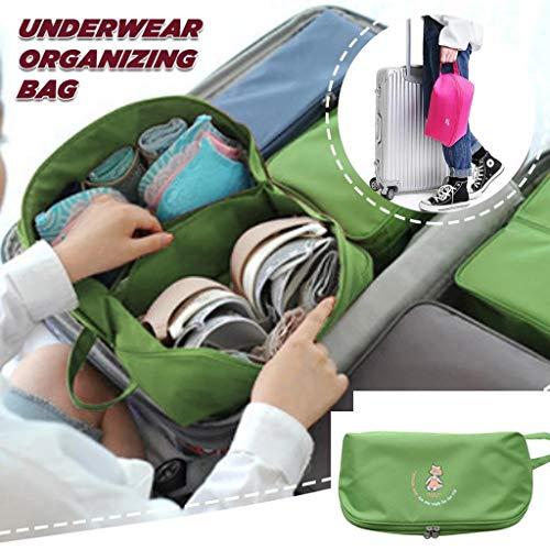 VICKY-HOHO Reise Organisation, Frauen wasserdichte Reise Aufbewahrung Tasche Unterwäsche BH Sortierung Organizer Taschen