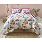 Fusion 'Flamingo' de Fun Housse de couette Funky, multicolore, Double
