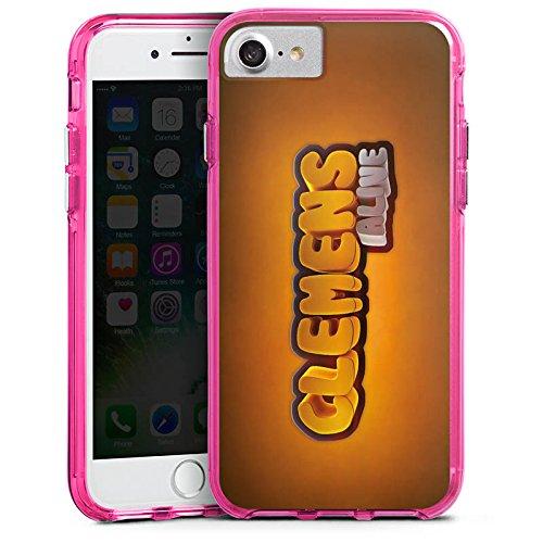 Apple iPhone X Silikon Hülle Case Schutzhülle Clemens Alive Fanartikel Merchandise Youtuber Bumper Case transparent pink