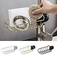 Kitchen Sink Faucet Sponge Holder, Sink Caddy Brush Dishwashing Drainer Rack, Faucet Storage Drain Rack For Ba