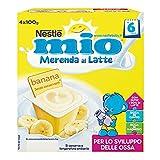 Nestlé Mio Merenda al Latte e Banana, da 6 Mesi, 4 Vasetti da 100 g