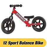 STRIDER 12 Sport Balance Bike, Bicicletta per Bambini, 18 Mesi - 5 Anni, Rosso