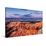 Premium Textil-Leinwand 90 cm x 60 cm quer, Bryce Canyon NP - Blick vom Inspiration Point | Wandbild, Bild auf Keilrahmen, Fertigbild auf echter Leinwand, Leinwanddruck (CALVENDO Natur)