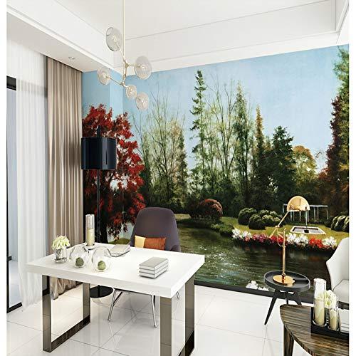 BZDHWWH Wandbild Silk Wall Covering - Benötigt Botanischen Art Deco 3D,312Cm (W) X 219Cm (H)