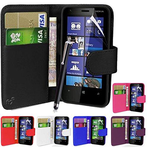 fi9 - Cover in similpelle per telefoni Nokia Lumia con protezione per schermo e pennino capacitivo