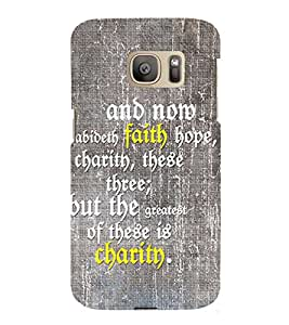 Faith Quote 3D Hard Polycarbonate Designer Back Case Cover for Samsung Galaxy S7 :: Samsung Galaxy S7 G930F :: Samsung Galaxy S7 Duos G930FD