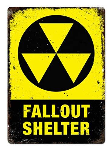 Shunry Fallout Shelter Blechschilder Vintage Metall Poster Retro Schild Original Blechschild Plakette Poster Zum Bar Cafe Garage Tankstelle Zuhause Verein - Shelter-garage