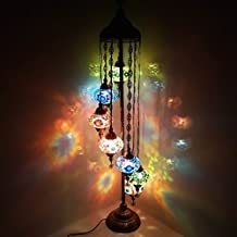 de TURQUÍA marroquí Tiffany Estilo Cristal Mosaico Otomano Lámpara de pie Lámpara Mesilla - Otomano 7b _ FLR Lámpara