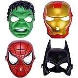 Sandbox Party Superhero/Cartoon Theme Masks (Pack of 4)
