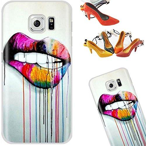 Coque iPhone 7, TwinkleCover Plastique Dur Coque Hard Back PC Etui Housse Case Coquille Cover pour Apple iPhone 7 4.7 inches (Crâne de lunettes ananas) avec un stylet l'écran gratuit et un Bouchon Ant Lèvres de graffiti