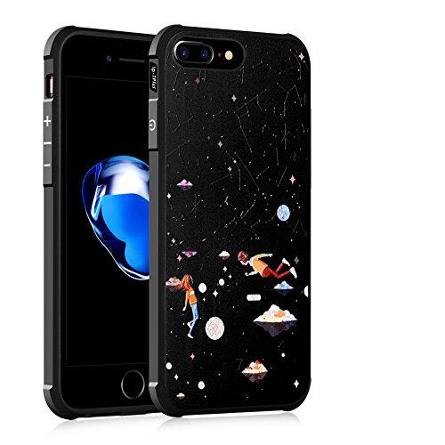 iphone 7 plus custodia, iMinker TPU Ultra Cell Phone Case Slim flessibile molle protettivo, silicone antiurto Bumper Smartphone copertura Shell di 5,5 pollici di Apple iPhone 7 Plus (Modello 4) Modello 5