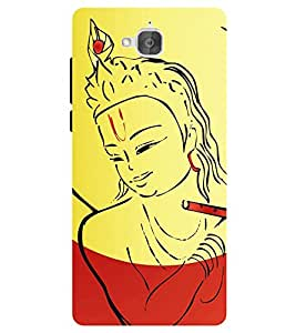 Chiraiyaa Designer Printed Premium Back Cover Case for Huawei Honor Holly 2 Plus (krishna playing flute) (Multicolor)
