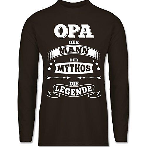 Shirtracer Opa - Opa Die Legende - Herren Langarmshirt Braun