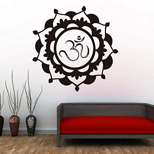 Religious Mandala Wall Sticker Lotus Vinyl Self Adhesive Home Decoration Mural Art Living Room New 75x75cm