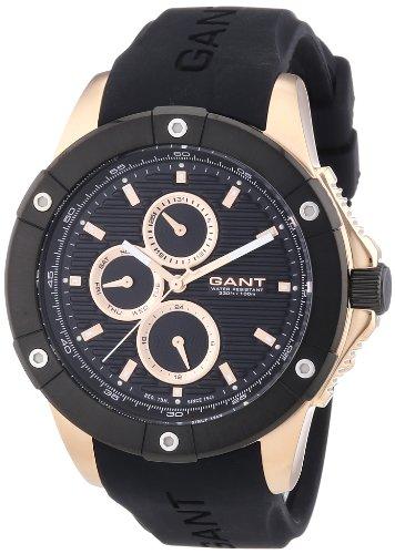 Gant–W10953–Watch Men–Quartz Analogue Black Plastic Bracelet