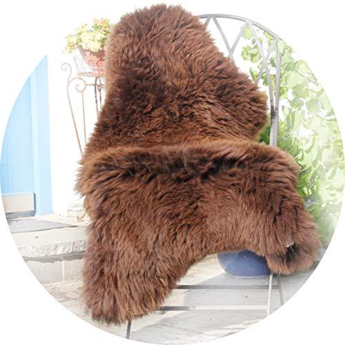 Alpenfell Schaffell Lammfell Braun groß Merinoschaf 120-130cm ökologische Gerbung -