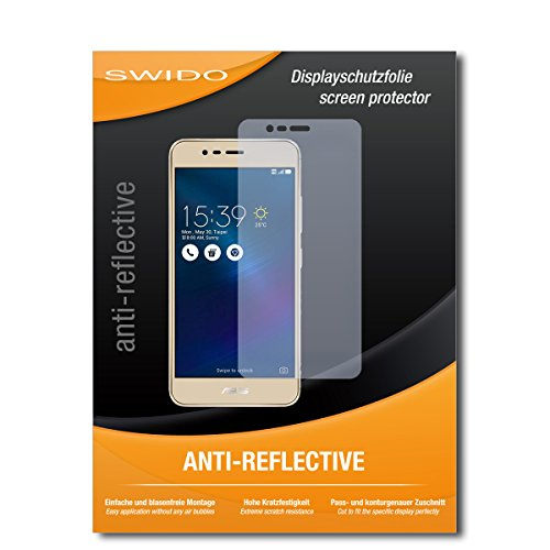 SWIDO Schutzfolie für Asus Zenfone 3 Max (ZC520TL) [2 Stück] Anti-Reflex MATT Entspiegelnd, Hoher Härtegrad, Schutz vor Kratzer/Bildschirmschutz, Bildschirmschutzfolie, Panzerglas-Folie