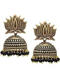 Jaipur Mart Jhumki Earrings for Women (Golden)(GSE461$P)