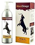 Omega Öl für Hunde – MaxxiOmega BESTE Omega 3 6 9 Nahrungsergänzung – Flüssiges Fischöl – Essentielle Fettsäuren – Enthält Biotin – Natürliche Antioxidantien – Vitamin A, D & E – Nutzen für die Gesundheit von Hunden – Entzündungshemmend – Hautpflege – Allergielinderung – Glänzendes Fell – Pumpspray einfach zu handhaben