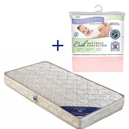 Spring Air Comfort Care Super Foam Baby Mattress + Crib Protector Combo (Pink)