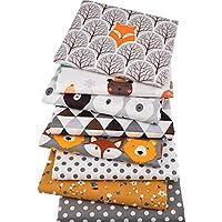 Latocos 50 PCS 25cm x 25cm Tissu en Coton Uni Motif Floral pour Patchwork V/êtements Tissu DIY Fait /à La Main Tissu /à Coudre Quilting Designs Diff/érents Couture Fabric V/êtements Sewing Artisanat