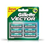 Gillette Vector Plus Manual Shaving Razor Blades (Cartridge) - 6s Pack