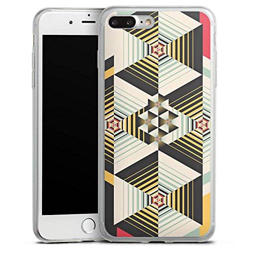 Apple iPhone X Slim Case Silikon Hülle Schutzhülle Muster Abstrakt Streifen Silikon Slim Case transparent