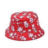 Lucky Will Donna donne Bucket Hat cappello spiaggia sole cappelli estate cappello spiaggia cappello cappuccio noce di cocco motivo rosso