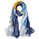 Ju-sheng Silk Long Towel Thick Silk Sunscreen Blue Strandtuch (Farbe : Blau)
